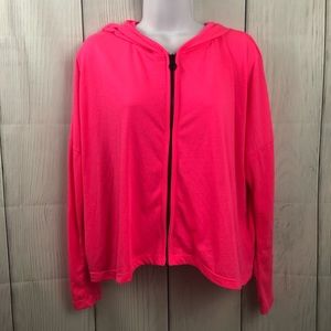 Hard Candy size M pink zip up hoodie